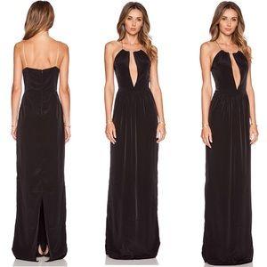 Dresses & Skirts - Assali Cruel Black Maxi Dress with chain halter